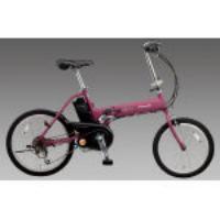 [20インチ]充電式電動自転車(折畳み/ラズベリー) EA986YA-13R