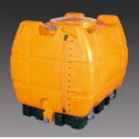 500L [バルブ付]台付ポリエチレン容器 EA991AC-4