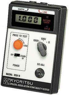 日本共立KYORITSU 3001B 绝缘/导通测试仪 兆欧表