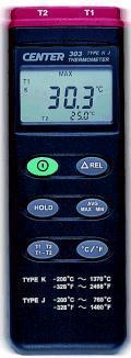 CENTER-303温度计|K,J型热电偶温度表 CENTER-303
