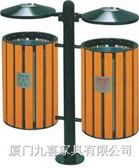 厦门户外钢木垃圾桶Y073