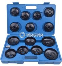 15 Pc Cup Type Oil Filter Wrench Set