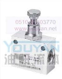 YRUN  KLA-L20 KLA-L25  油研单向节流阀 KLA-L20 KLA-L25