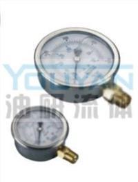 耐震压力表 AT-40-150K AT-40-250K AT-40-350K AT-40-500K 油研耐震压力表 AT-40-150K AT-40-250K AT-40-350K AT-40-500K