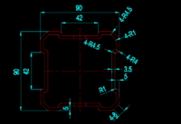 不銹鋼酸洗鈍化鋼梁槽道支架用異型管 316L異型管90*90*3.5
