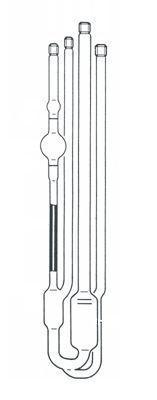 Julabo&visco毛细管粘度计 带管口螺纹和清洗管,ASTM乌式管