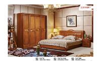 床+四门衣柜+花架