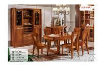 餐桌+餐椅+趟门酒柜
