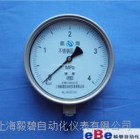 上海氨用压力表/不锈钢氨压力表YA-100BF YA-100BF