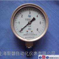 上海压力表/全不锈钢压力表Y-100BF/1.6级压力表/螺纹M20*1.5 Y-100BF