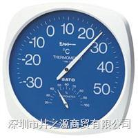 TH-300温湿度仪,1013-00指针式温湿度表,日本SATO表盘温湿度仪,佐藤温湿度计 TH-300/1013-00