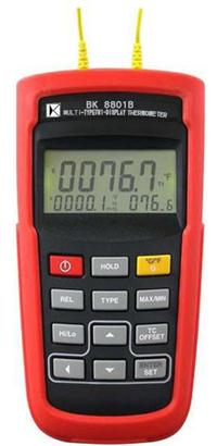 多類型雙組輸入溫度計 BK8801B