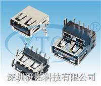 USB母座90°DIP加高型 6421-104FRXXXXXX1X2