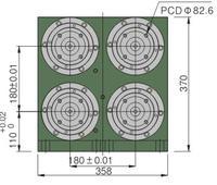 雙層四軸精密主軸頭 SR60-FB60-2T4S