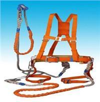 黄绳式双保险加全背安全带 高空全身式安全带 电工双控安全带 ST