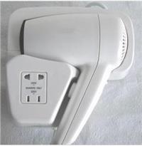 巴谢特酒店KTV 挂壁式吹风机 浴室挂墙电吹风 宾馆式电吹风机 美发器 干发器 BXT01G