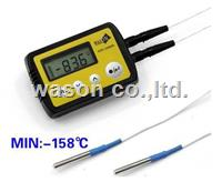 External dual/double probe deep cryogenic temperature data logger