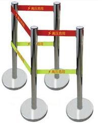 HT-083带警示灯的报警双警示带安全围栏 不锈钢双带伸缩围栏 HT-083