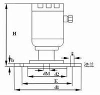 JCJ800P法兰式液位变送器 JCJ800P