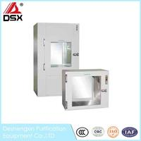Dynamic Air Shower Pass Box , ISO Horizontal / Vertical Clean Room Pass Thru Bo DSX-PASS BOX 01