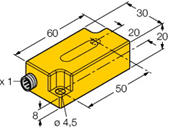 德国图尔克倾角传感器选型价格 B1N360V-Q20L60-2UP6X3-H1151