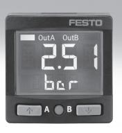 FESTO压力传感器SPAN-B2R-R18M-PN-PN-L1 LR-1/4-D-O-MINI