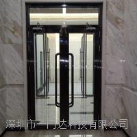 黑钛金防火玻璃门