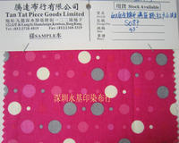 香港厂家直销60*60棉布印满底大小波波 箱包鞋帽全棉平布印花 60*60棉布印满底大小波波