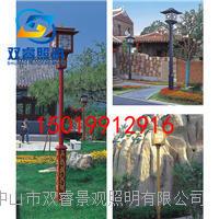 广东福州庭院灯生产厂家单头宫灯定制新中式仿古铝制景观灯