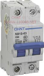 带分励脱扣断路器  NB1S-63 2P 63A#C   NB1S-63 2P 63A#C  NB1S-63 2P 40A C型