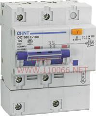 剩余电流动作断路器  DZ158LE-100 2P   DZ158LE-100 2P  DZ158LE-100 1P