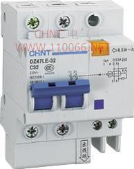 剩余电流动作断路器  DZ47LE-32 1P   DZ47LE-32 1P  DZ47LE-32 2P  DZ47LE-32 3P
