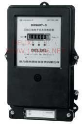 三相电子式无功电能表    DXS607-3       DXS607-4  DXS607-3       DXS607-4