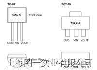 HT73XX低功耗250MA电压调整器(SGS 无铅) Holtek HT73XX;HT73XX-1