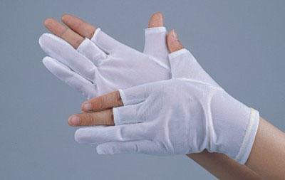 尼龙切口手套/50D尼龙切指手套