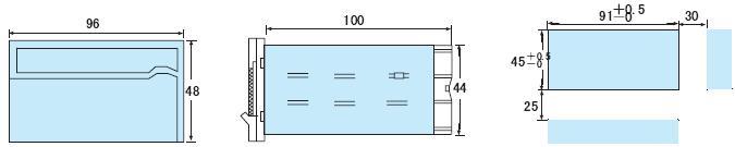 DP4-AA数显交流电流表|东崎Toky4位半交流电流表|DP4-PAA带上下限设定交流电流表头 外形尺寸