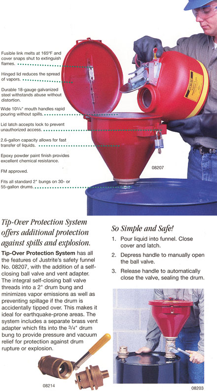 Drum Funnels and Tip-Over Protection