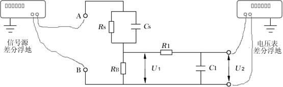 计量接触电流測量網絡的接线图: