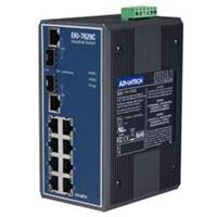 研华EKI-7629C带有8个10/100Base-TX端口及2个Combo 10/100/1000Base-TX/SFP(微型GBIC)端口