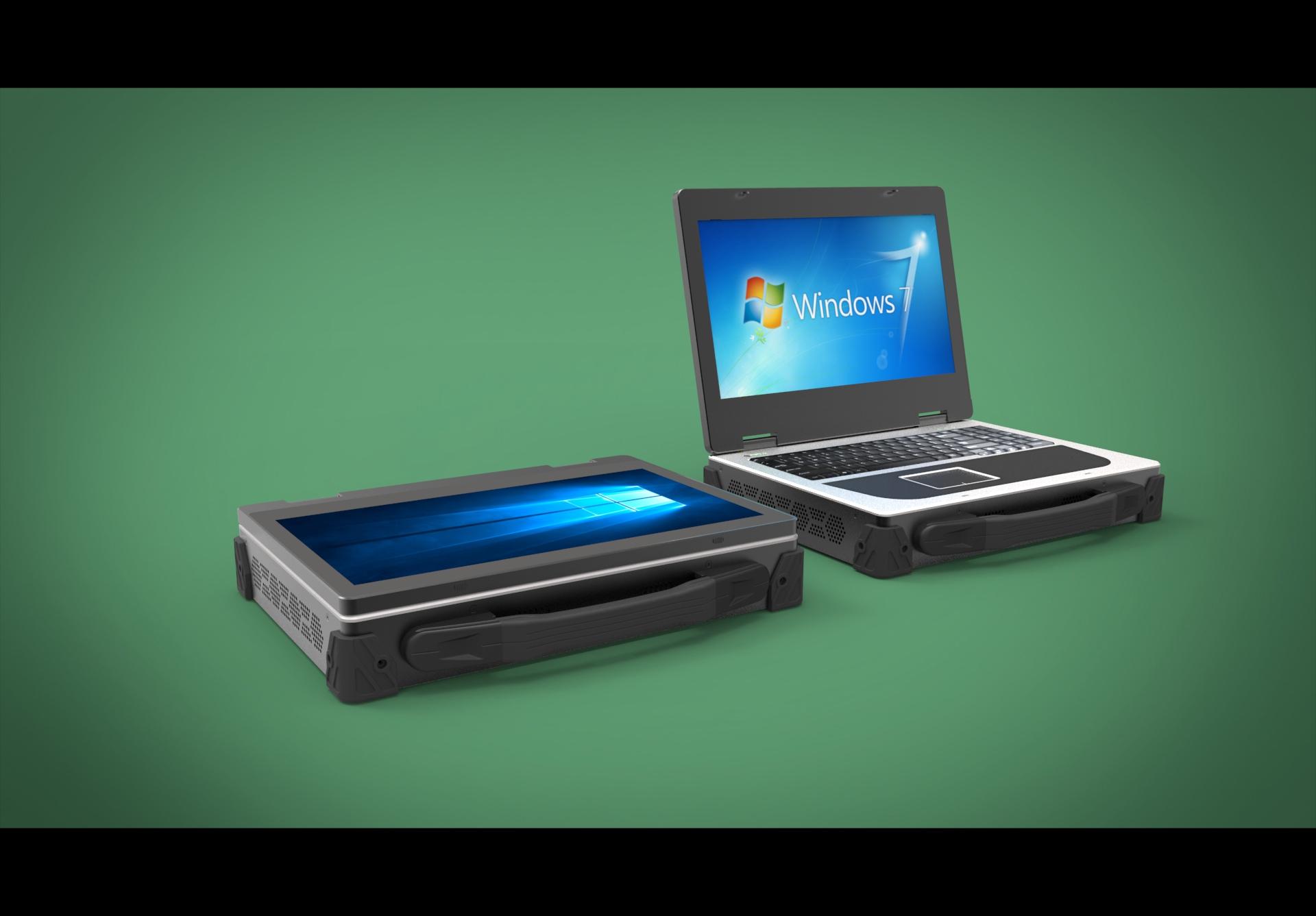 天拓工控为某单位专门量身定制双屏便携式取证审讯机