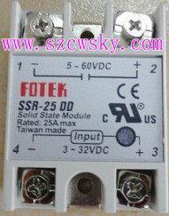 台灣陽明FOTEK固態繼電器SSR-25DD SSR-25DD